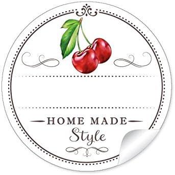 24 Sch/öne Marmeladenetiketten f/ür die K/üche in wei/ß//apricot mit liebevoll illustrierten AprikosenAprikose Konfit/üre /• Sticker//Etiketten im Format 4 cm, rund, matt 24 STICKER A4 Bogen