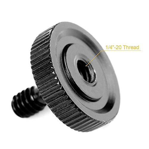 Pack of 2 Thumb Screw Camera Quick Release 1//4 inch Thumbscrew L Bracket Screw Mount Adapter Bottom 1//4 inch-20 Female Thread