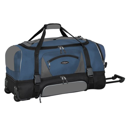 adventurer-duffel-collection-30-2-section-drop-bottom-rolling-duffel-in-navy-and-black