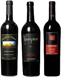 Vampire Vineyards Cabernet Sauvignon Mixed Pack, 3 x 750 mL