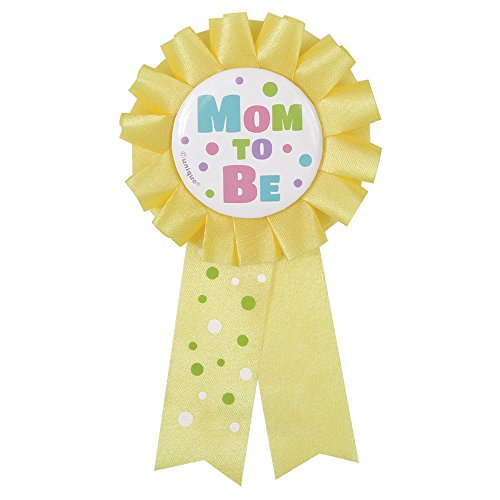 Baby Shower Wearables For Mom (Mom To Be Baby Shower Award Ribbon Polka Dots Party Supplies,)