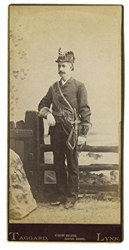19th Century Fashion - 19th Century Oversized Cabinet Card Photo - Lynn, -