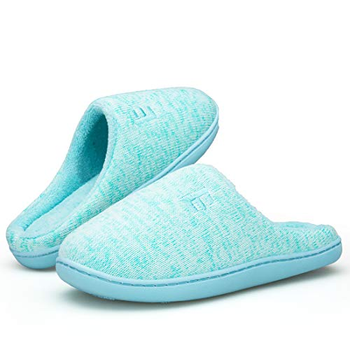 EAST LANDER Women's Memory Foam House Slippers Soft Sole Anti-Slip Slippers Indoor Shoes ELMT004-W3-L