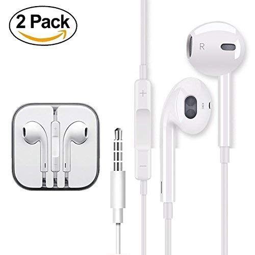 2 PACK Earphones Earbuds Headp