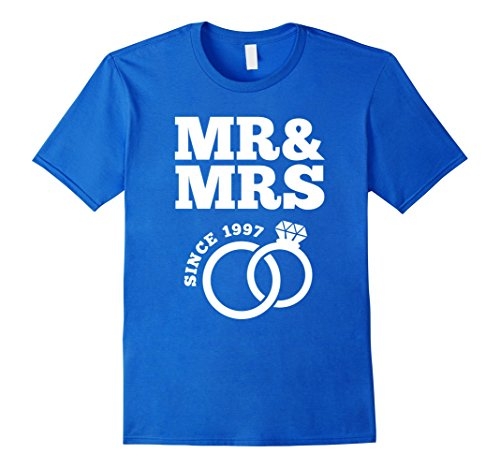 Mr And Mrs Gift Ideas: Men's 20th Wedding Anniversary Gift T-Shirt Mr & Mrs Since