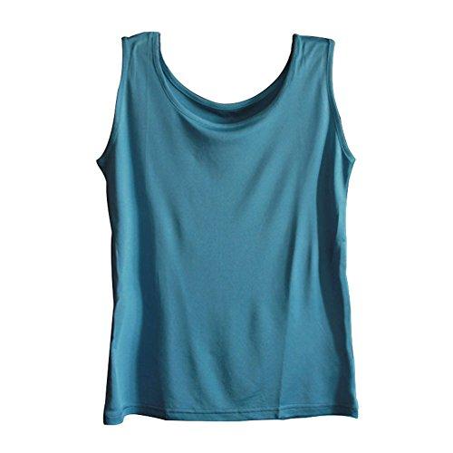 Silk Racerback Dress - Zylioo Womens 100% Mulberry Silk Camisoles Cap Sleeve Layering Tee Scoop Neckline Comfy Sleeveless Tank Top