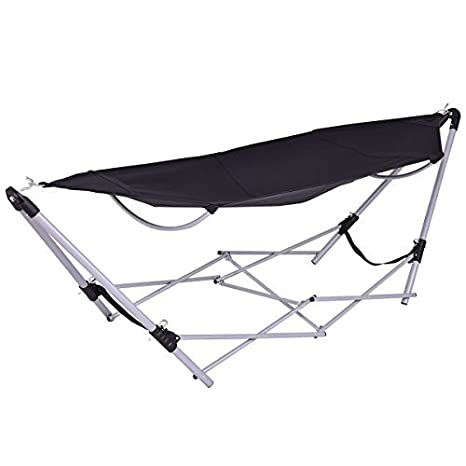 Amazon Com Giantex Portable Folding Hammock Lounge Camping Bed