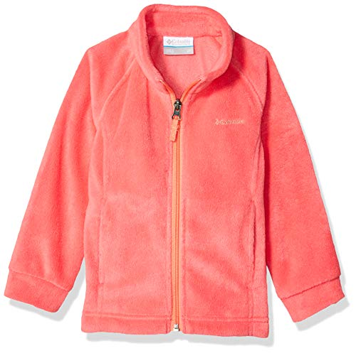 Columbia Girls' Toddler Benton Springs Fleece, Bright Geranium/hot Coral, 3T ()