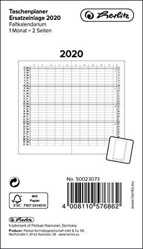 Leporello - Recambio para agenda 2020, 1 unidad: Amazon.es ...