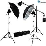 LimoStudio 900 Watt Studio Continuous Lighting Overhead Boom Light Kit w/ Umbrella Light Reflector Kit