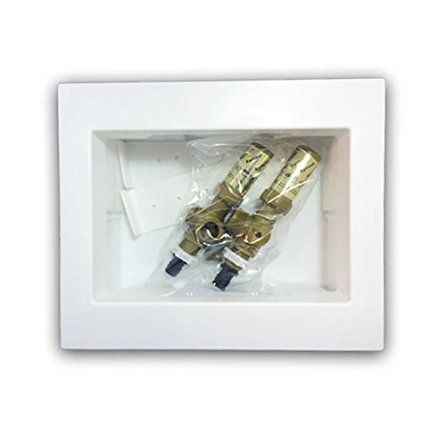 Ayrlett 2083.0 Un-Assembled Multi-Pro Washing Machine Box with 1/4 Turn Poly Alloy Valves and PEX Connection, Brass by Ayrlett