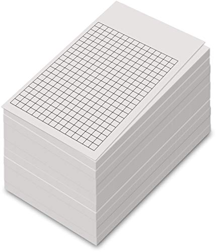 White Grid Vertical Index Cards, 3