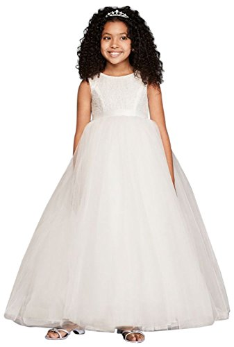 David's Bridal Flower Girl/Communion Ball Gown Flower Girl/Communion Dress with Heart. by David's Bridal