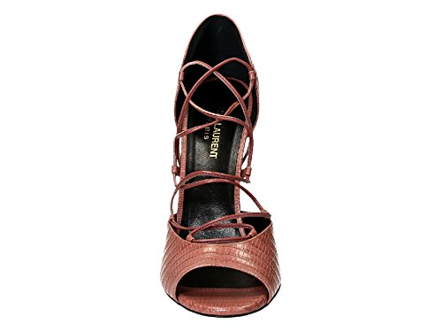 Saint Laurent Damen 427789CJ5006234 Rosa Leder Sandalen