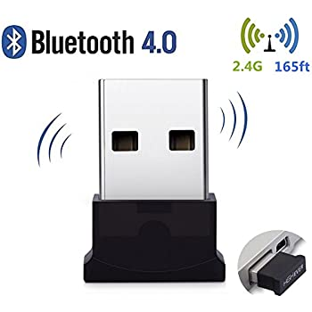 Bluetooth USB Adapter, 4.0 Bluetooth Low Energy 2.4Ghz Range Wireless USB Dongle Adapter for PC, Windows 10/ 8.1/ 8/ 7, Vista/ XP