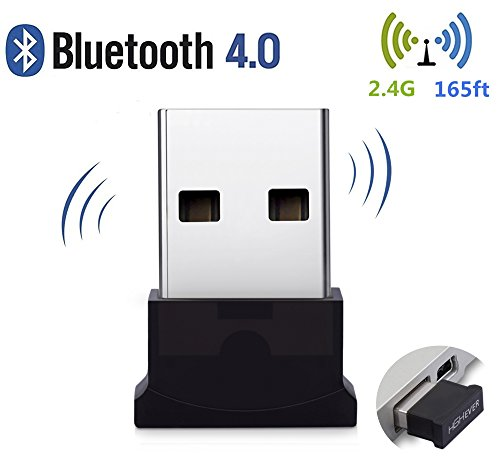 Bluetooth USB Adapter, 4.0 Bluetooth Low Energy 2.4Ghz Range Wireless USB Dongle Adapter for PC, Windows 10/8.1/8/7, Vista/XP by HIGHEVER