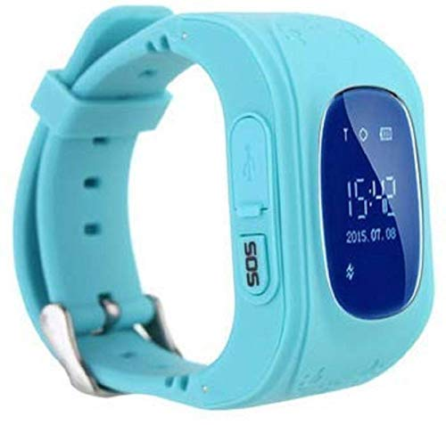 ADYM Q50 Kids Smart Watch with Anti Lost GPS Tracker, Baby Watch, Kids SOS Calling Smart Watch Compatible with All Android/iOS Mobiles (Blue)