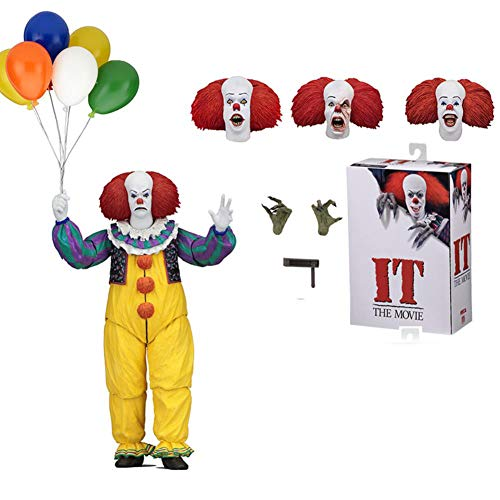 PLAYER-C Joker 1990 Stephen King It Clown Action Figure Collection Model Toys for Halloween Decoration Gift ()
