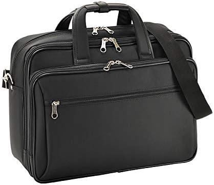 平野鞄 ビジネスバッグ ブリーフケース ビジネスリュック ショルダーベルト メンズ B4 タブレット3way キャリーバー通し 2室 ビジネス 通勤 出張 勤務 黒 ブラック 横幅39cm +オリジナル高級ムートングローブ
