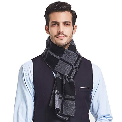 Taylormia Mens 100% Merino Wool Scarf - Winter Warm Soft Long Knit Scarves