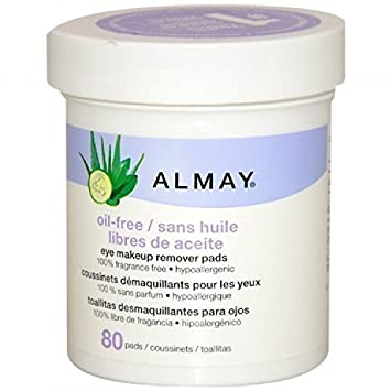 Almay Oil-free Eye Makeup Remover Pads, 80 Pads by Revlon Consumer Products Corp