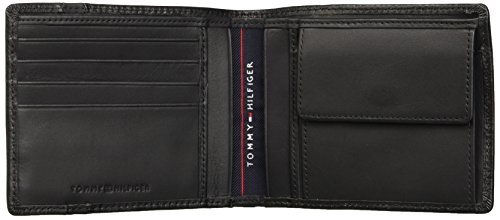 Mens Tommy Striped Coin Black Black Wallet Hilfiger Cc AND Pocket 6wZ5fpwqr