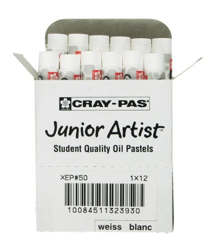 12 Piece Pastel - Sakura XEP-050 12-Piece Cray-Pas Junior Artist Oil Pastel Set, White