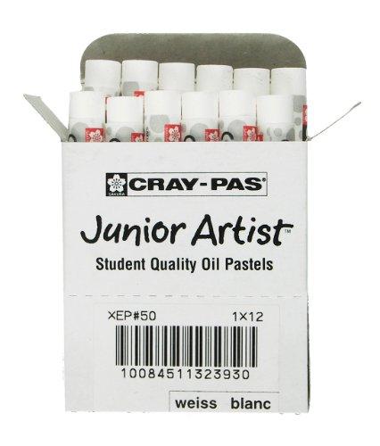- Sakura XEP-050 12-Piece Cray-Pas Junior Artist Oil Pastel Set, White