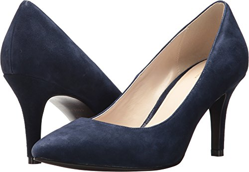 Cole Haan Women's Juliana 75 Pump, Navy Suede, 9 B US (Haan Juliana 75 Cole)