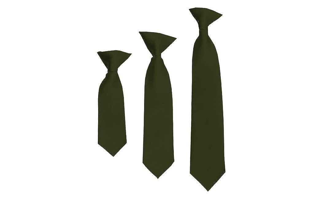 Solid Hunter Green Boys 14 Clip On Tie