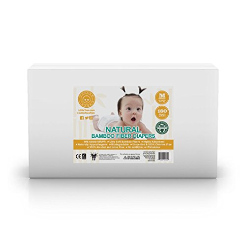 Little Toes Disposable Biodegradable Bamboo Diapers Monthly Value Pack (Medium, 180 Count) | Super Absorbent Natural Diapers for Babies 13-24 lbs| Hypoallergenic, Eco-Friendly, Soft & No Leaks (New) by Products On The Go (Image #5)