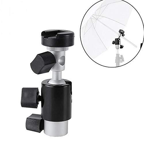 Kaimaily Camera Flash Bracket Mount, Professional Universal D-Type Flash Holder Mount with Umbrella Holder for Canon, Nikon, Pentax, Olympus and Other DSLR and Studio LED (Bracket Reversing Camera)