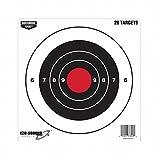 Birchwood Casey BIR37826 Eze-Scorer Bull's-Eye Paper Target, 26-Sheet, 8-Inch