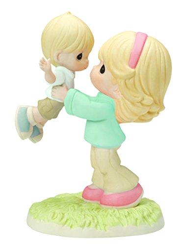 Precious Moments, Your Love Lifts Me Bisque Porcelain Figurine, Mother and Son, (Precious Moments Collectables)