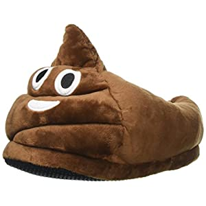 YINGGG Unisex Cute Emoji Slippers Plush Fluffy Comfortable House Shoes for Kids Women Men