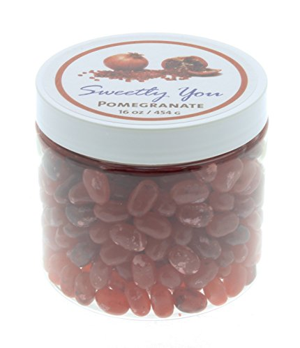 Jelly Belly 1 LB Pomegranate Flavored Beans.  Bulk Jelly Bea