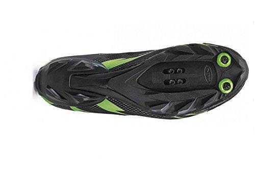 Northwave Scorpius 2 zapatos bicicleta de montaña, negro-verde-fluoro
