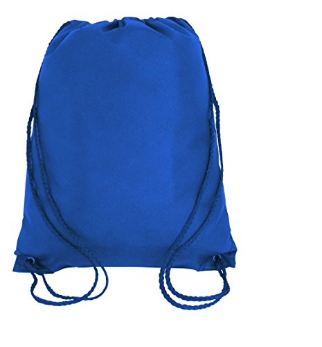 Budget Friendly Non-Woven Drawstring Backpack, Cinch Bags,Sack Packs (100, Royal) by SHOPINUSA