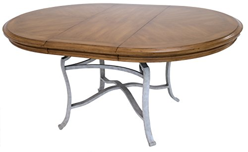 Impacterra QLBV5359672312 Bremerhaven Oval Extendable Dining Table, Sahara/Vintage (Oval Extendable Table)