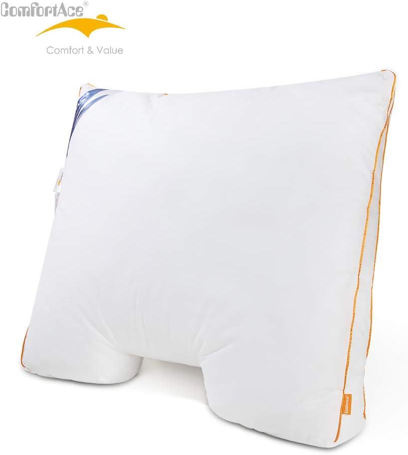 ComfortAce/® Kissen Kopfkissen 60 x 70 cm Daunenkissen Schlafkissen mit Baumwollbezug,geeignet f/ür Allergiker,Kissenf/üllung mit 10/% Wei/ße Entendaunen Bettkissen Bequem Flauschig und Atmungsaktiv
