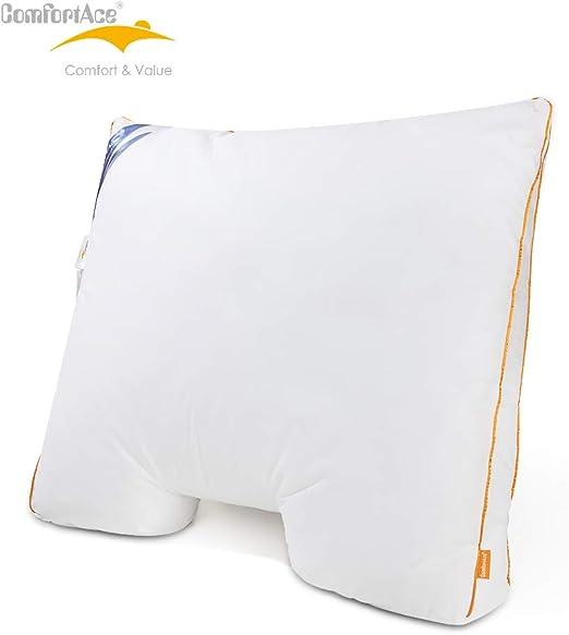 ComfortAce® Almohada de 60 x 70 cm, Almohada de plumón con Funda ...