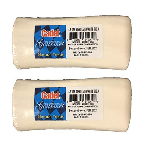 (Cadet Sterile Natural Bone for Dogs, 4 to 6-inch, White 2 Pack)