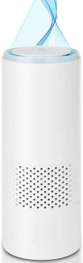Awolf HEPA Air Purifiers, Smoke Air Purifier True HEPA Filter Car Air Purifiers with Anion Purify 99.97% Smoke Dust Pollen Odor PM2.5. Low Noise Air Cleaner with Night Light USB for Home Office
