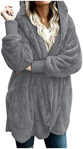Overcoat for Women Casual Winter Warm Coat Jacket Parka Outwear Ladies Loose Slouchy Cardigan Coat Outerwear