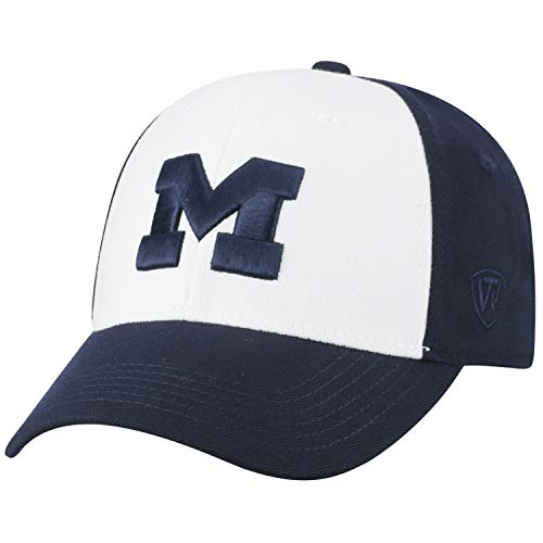 Top of the World NCAA-Premium Collection Two Tone-One-Fit-Memory Fit-Hat Cap- Michigan Wolverines