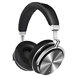 Bluedio T4S Active Noise Cancelling Bluetooth Headphones Over Ear with Mic, 57mm Driver Swiveling Wireless Headset, Wired and Wireless headphones for Cell Phone/TV/PC Gift (Black)