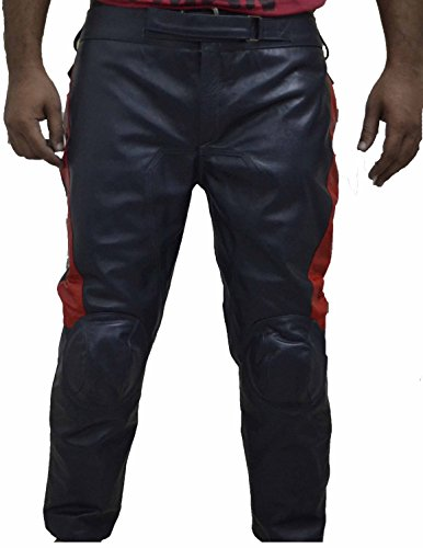 Captain America Avengers Cow hide Leather Pants (XL) CA2 PS Blue Red by MSHC