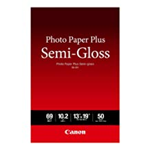 Genuine Canon SG-201, 13 x 19-Inch, A3+ Size, Photo Paper Plus Semi-Gloss, 50 Sheets/Package