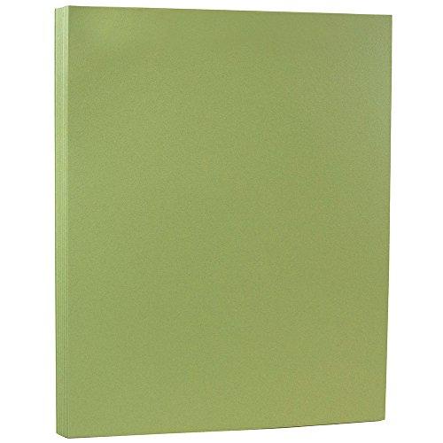 - JAM PAPER Matte 80lb Cardstock - 8.5 x 11 Coverstock - Olive Green - 50 Sheets/Pack