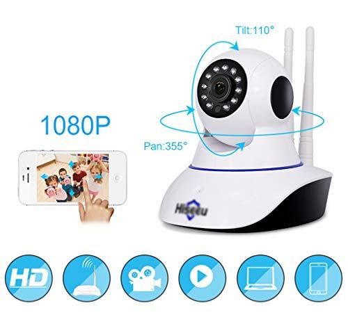 Surveillance Cameras 2 Million Pixels 1080P HD WiFi Wireless Surveillance Camera Mobile Phone Remote Intelligent Network HD Camera Baby Monitor (Pixel : 2 Million (dpi))